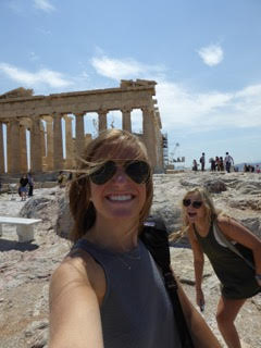Selfie while exploring Athens
