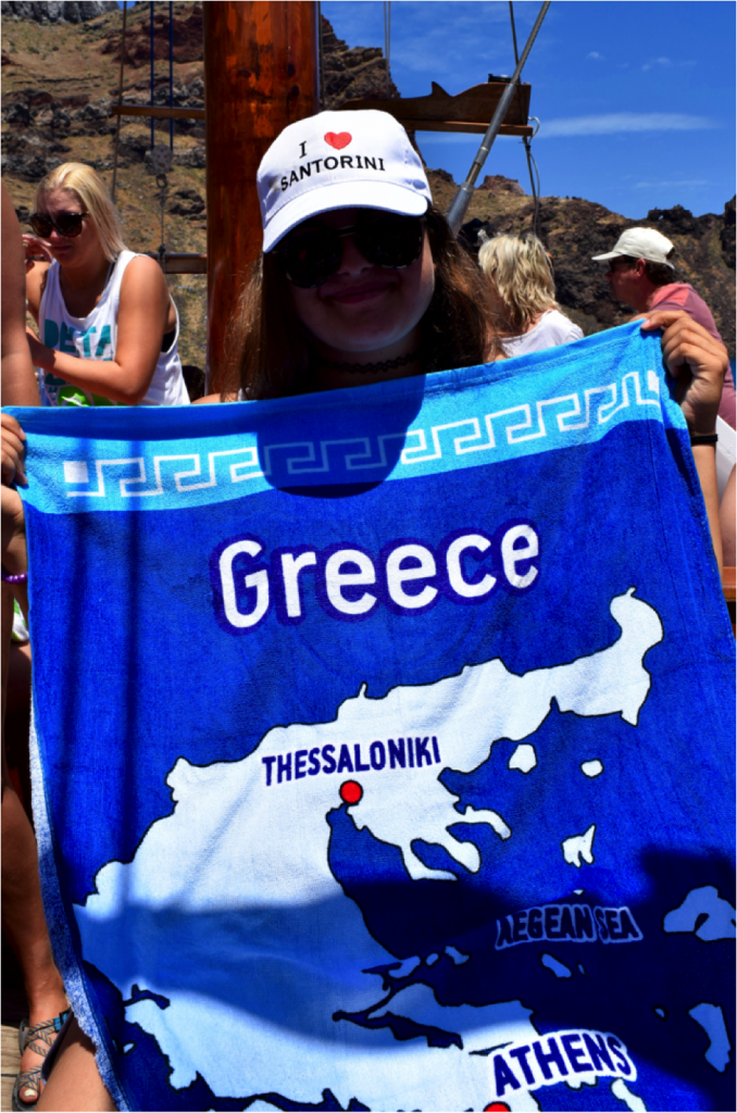 Courtney Ergen in Greece
