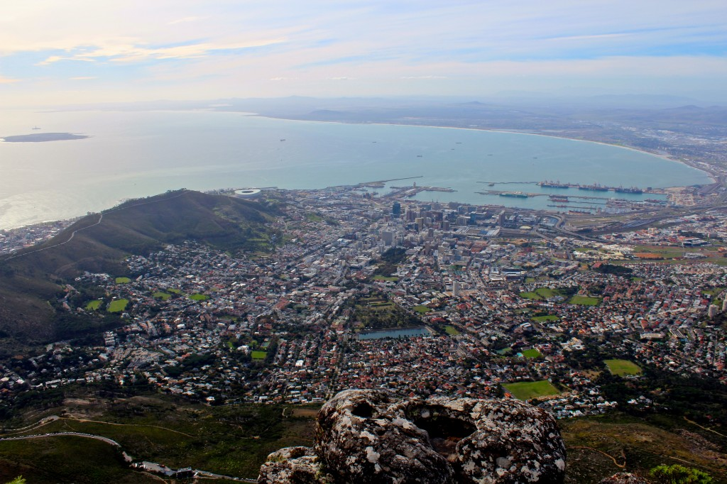 Beautiful view of Cape Town from Table Mountain
