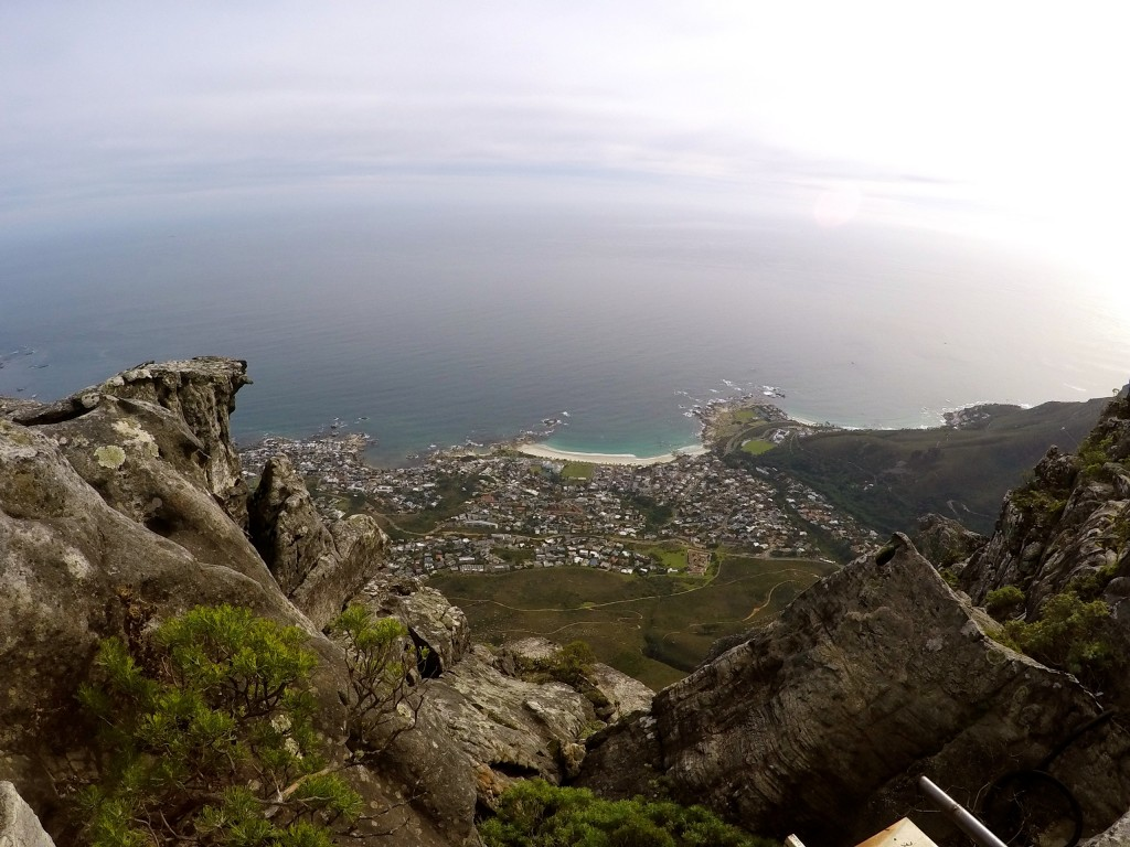 View of Cape Town from the summit of Table Mountain