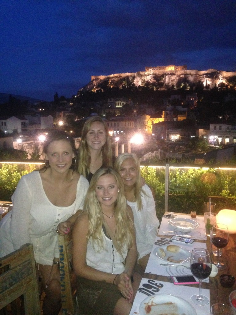Dinner overlooking Athens