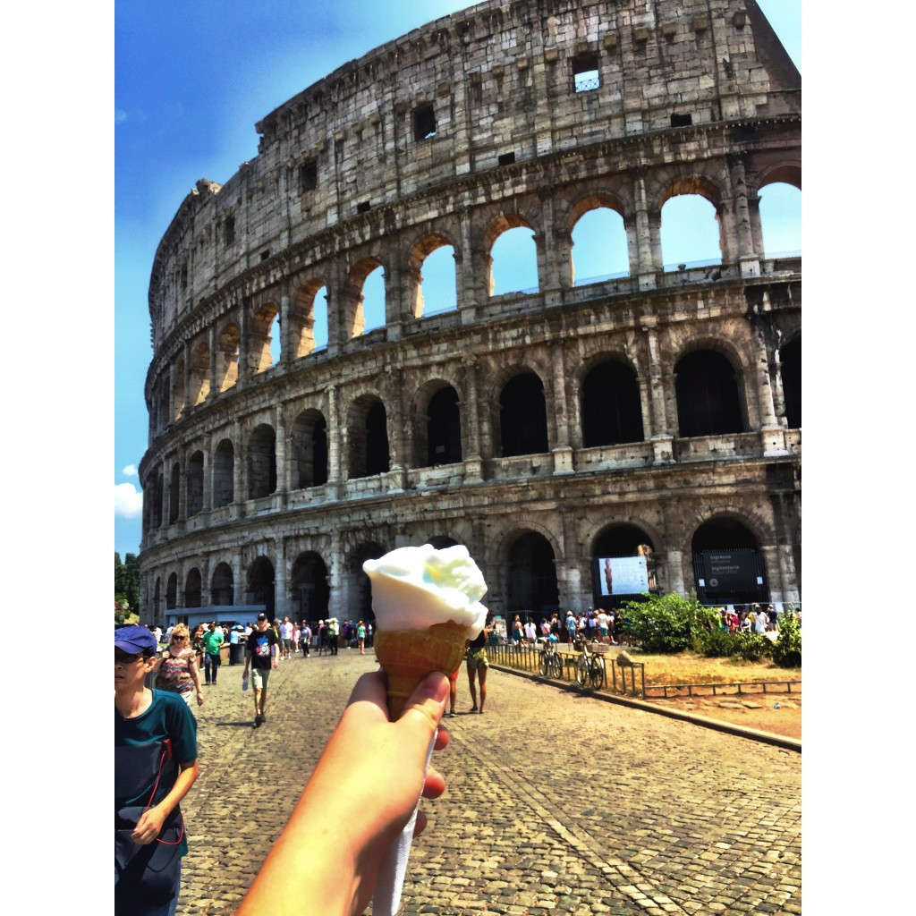Gelato at the Coliseum