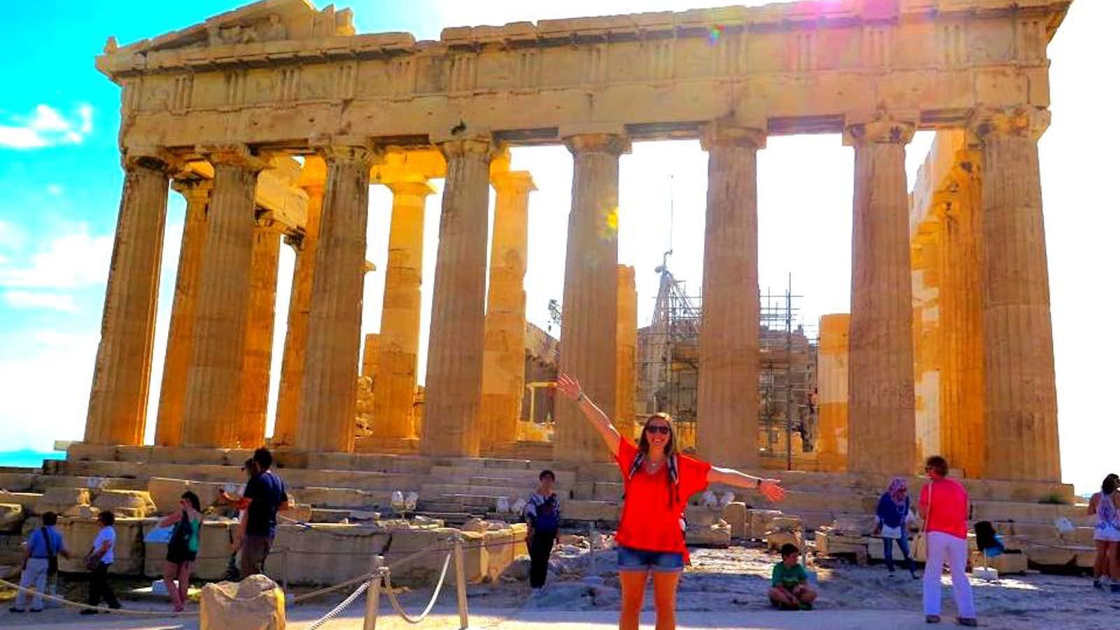 Leah at the Acropolis