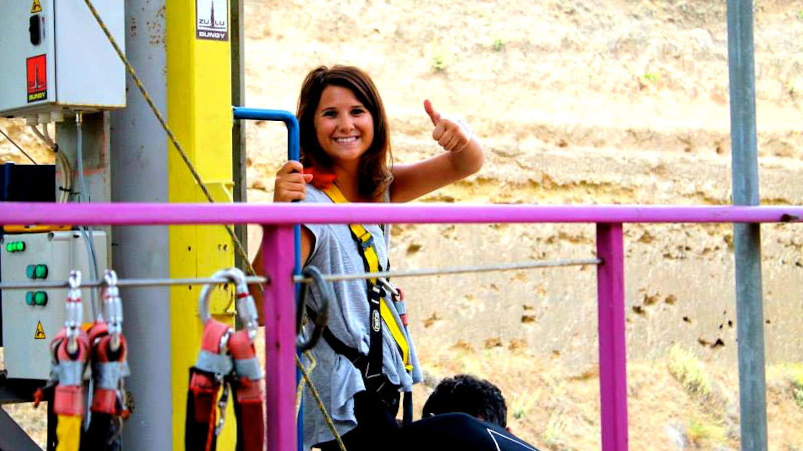 Madison ready to bungee jump