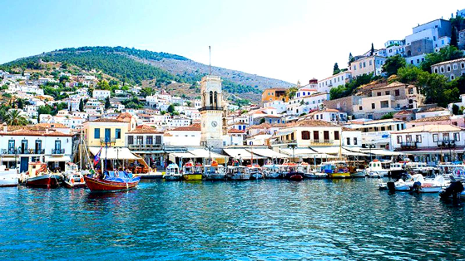 Beautiful Hydra Island in Greece