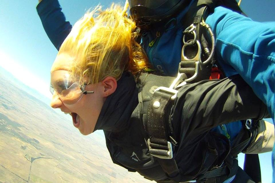 Student skydiving