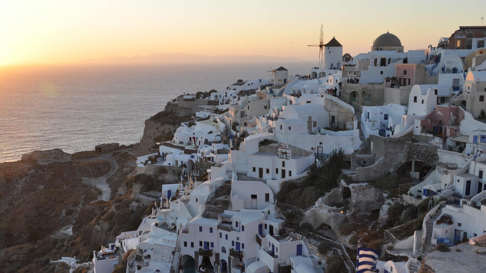 Sunset at Oia in Santorini