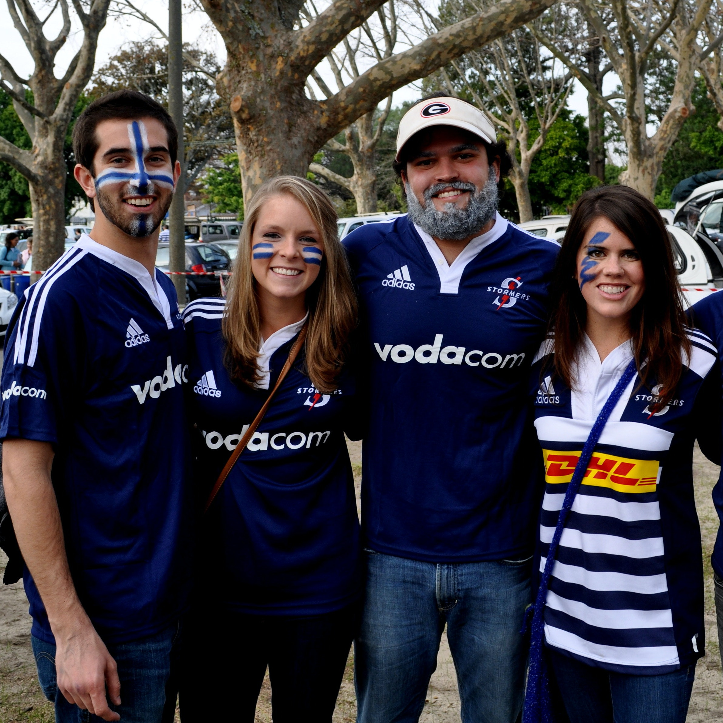 The team at a Stormers game in Cape Town