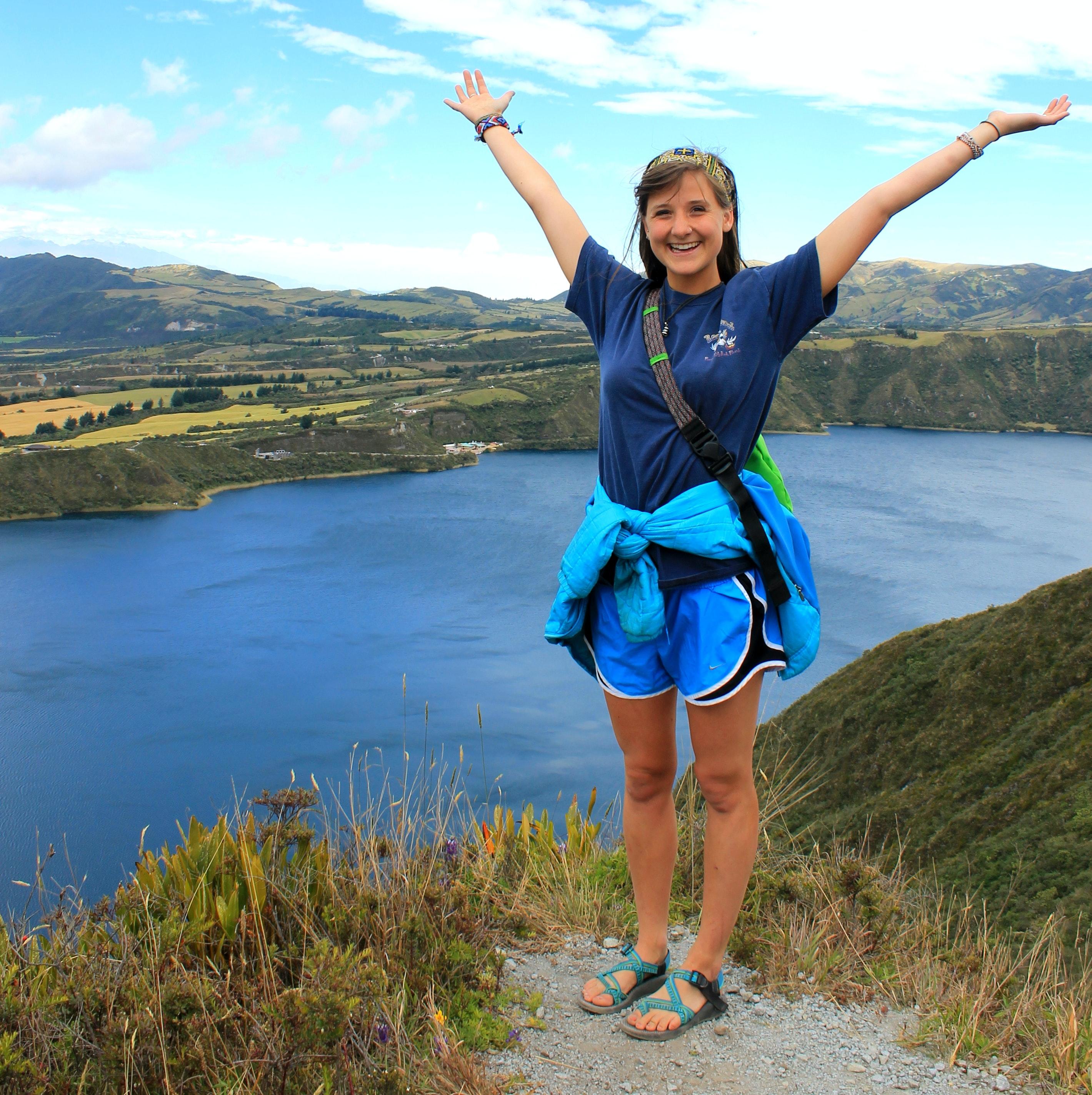 Hiking around Lake Cuicocha
