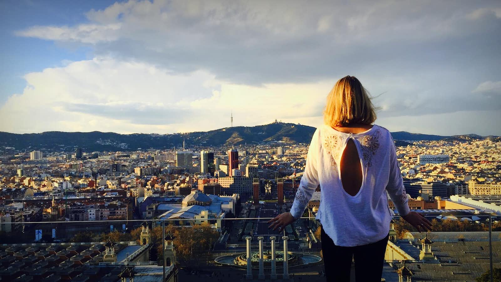 Looking out over the city of Barcelona