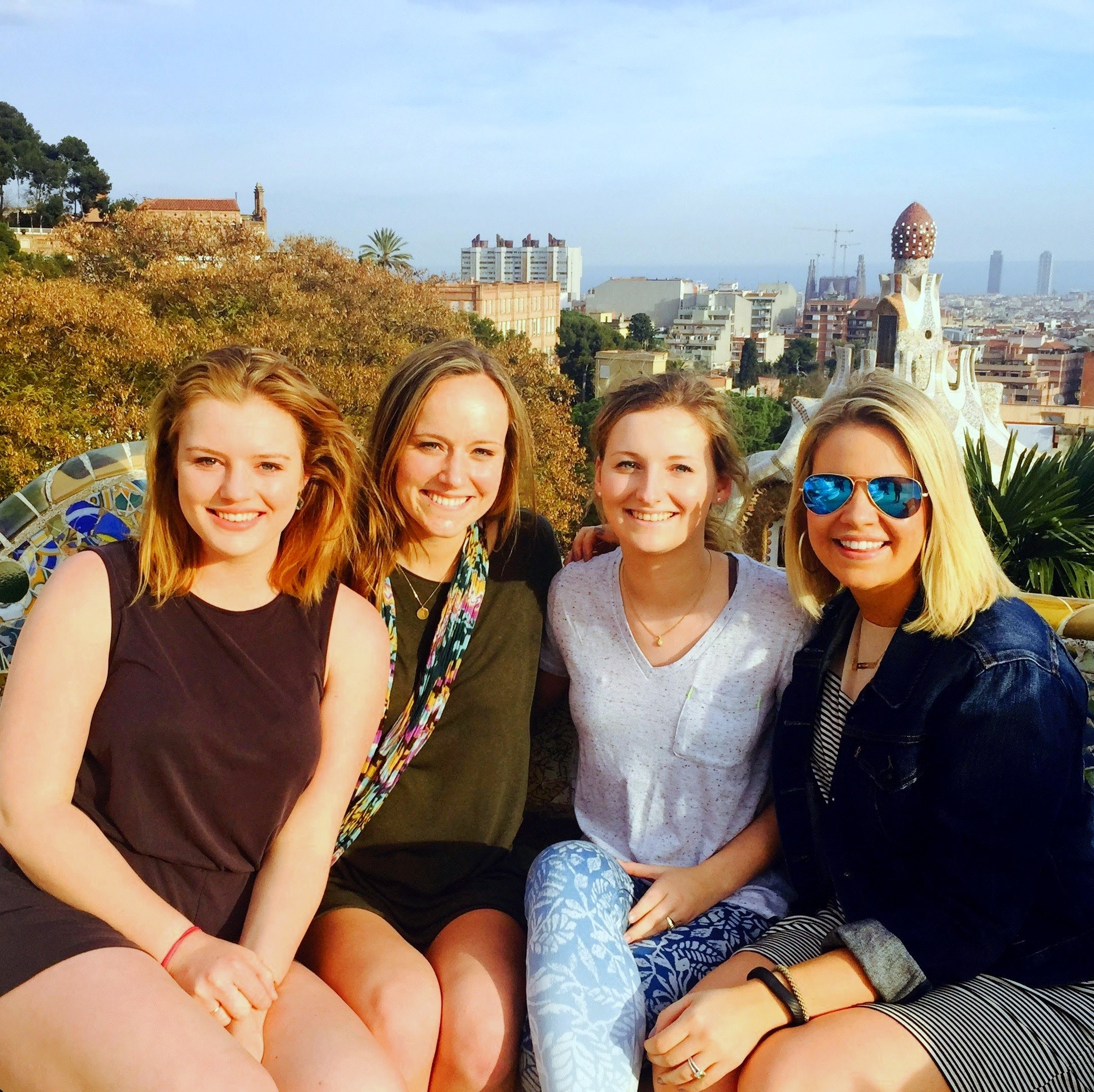 At Parque Guell in Barcelona