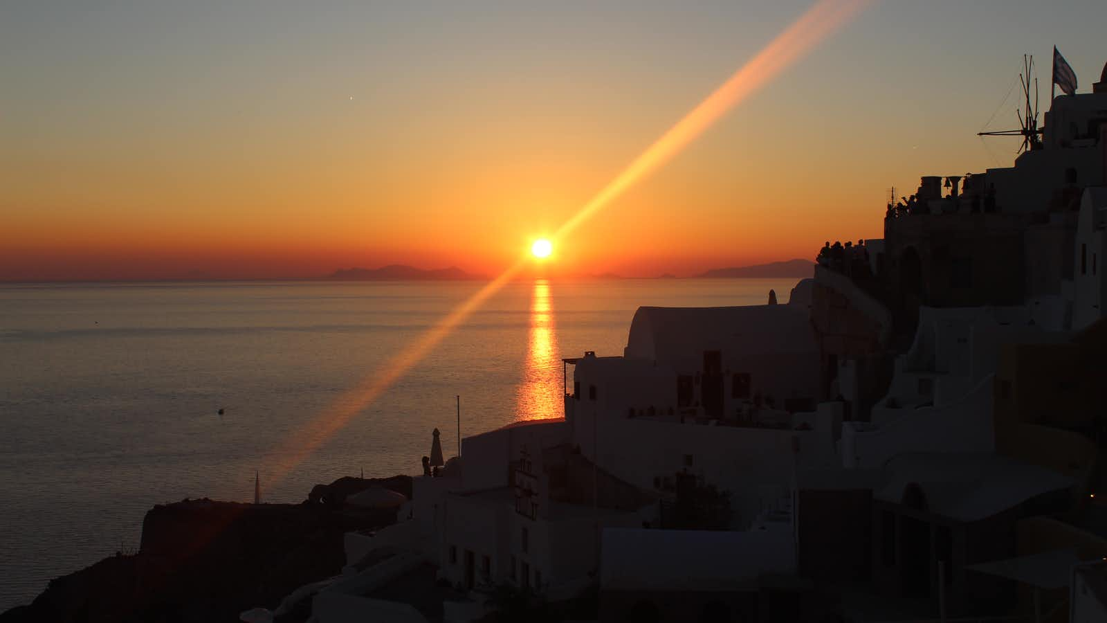Greece sunset