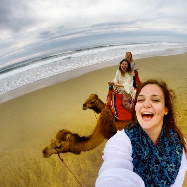 Cammie and a camel