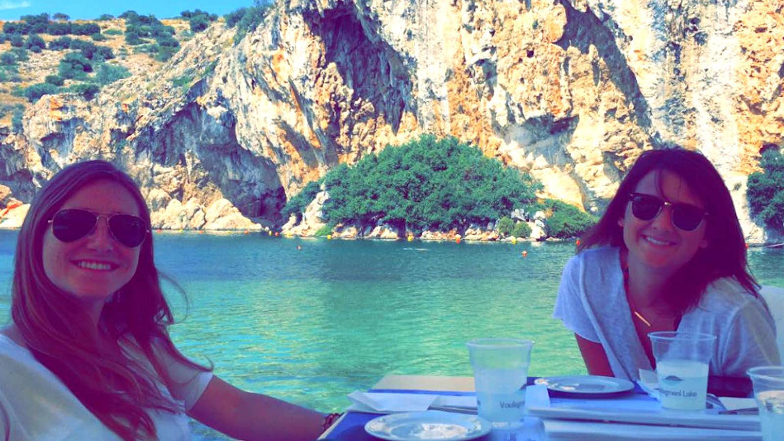 Lunch overlooking the lake