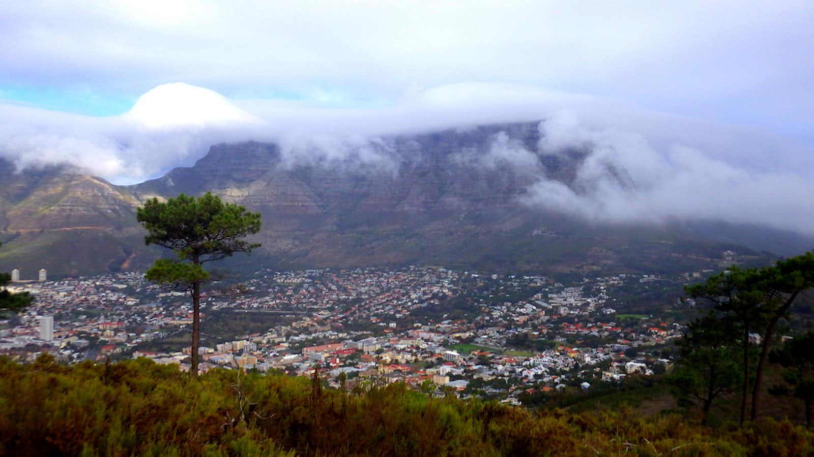 View of Table Mountain from Signal Hill