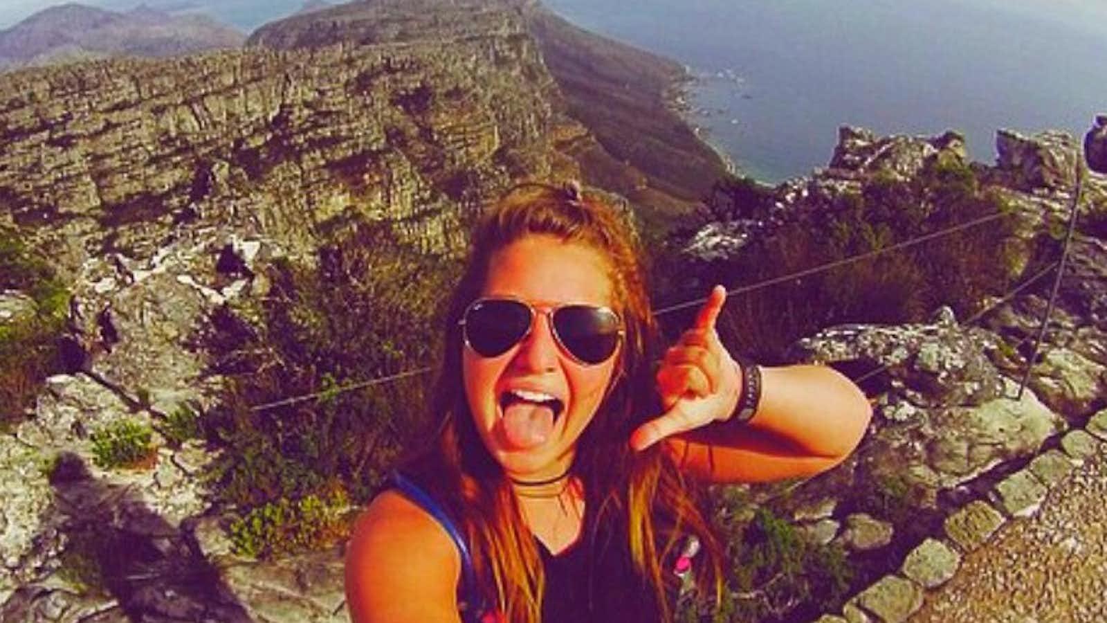Julianna conquers Table Mountain