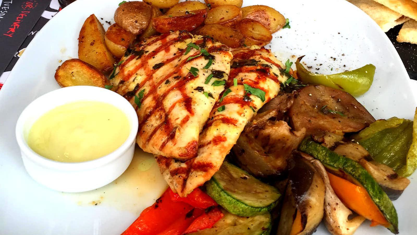 Delicious food in Greece