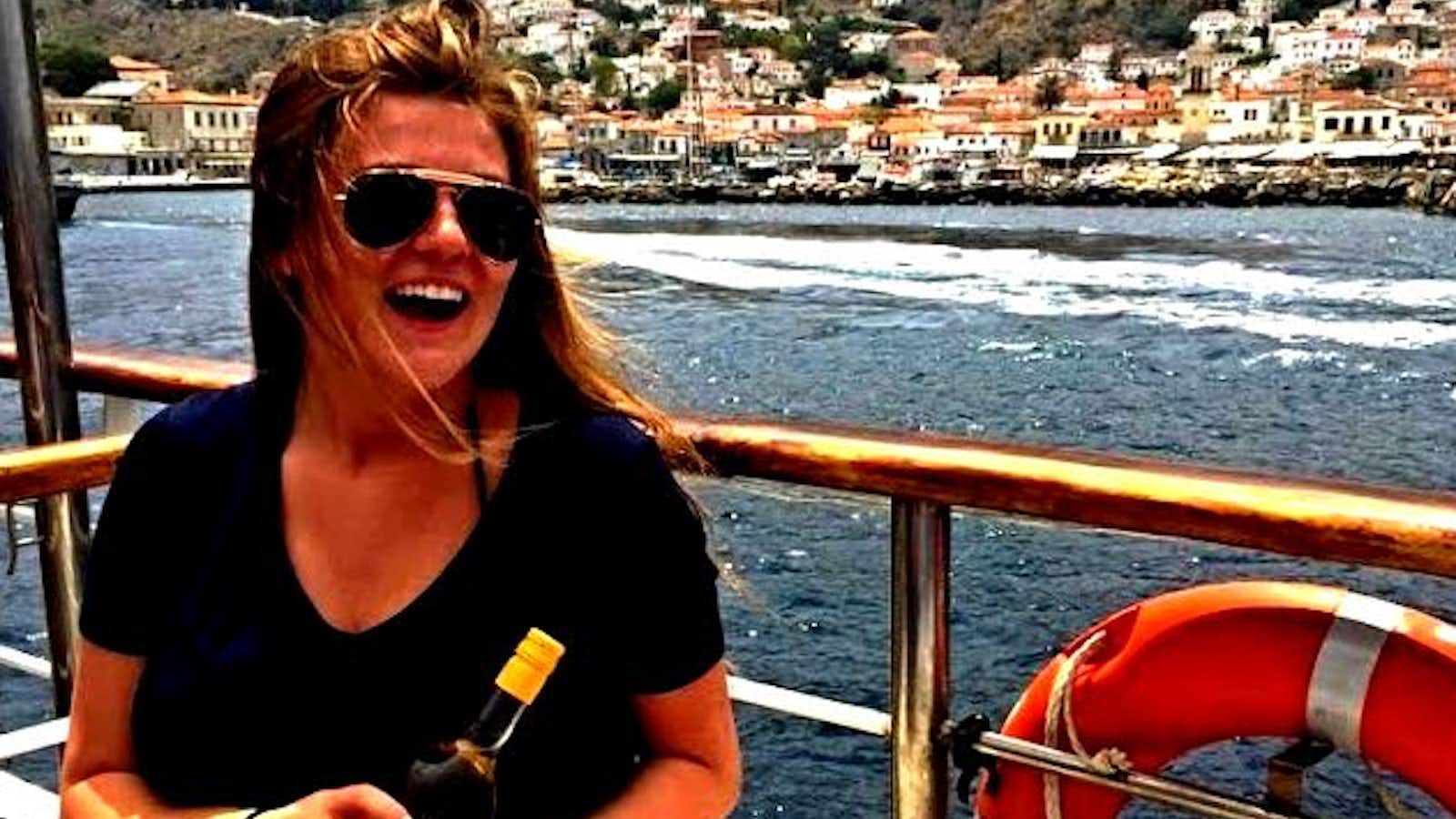 Maddie Hise enjoys the view in Greece