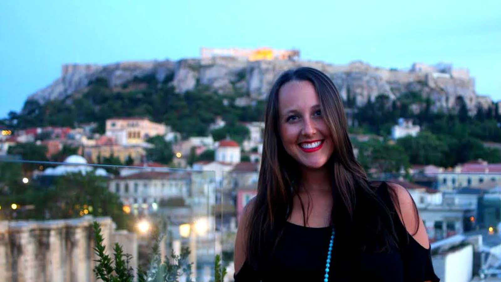 Enjoying the view of ancient Athens