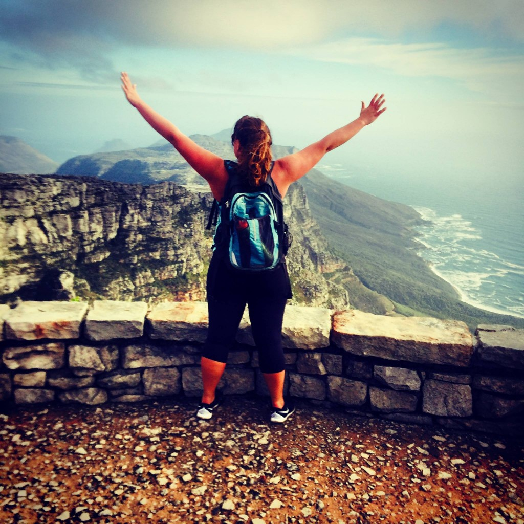 DIJ, AFTER MAKING IT TO THE TOP OF TABLE MOUNTAIN! WAY TO GO!