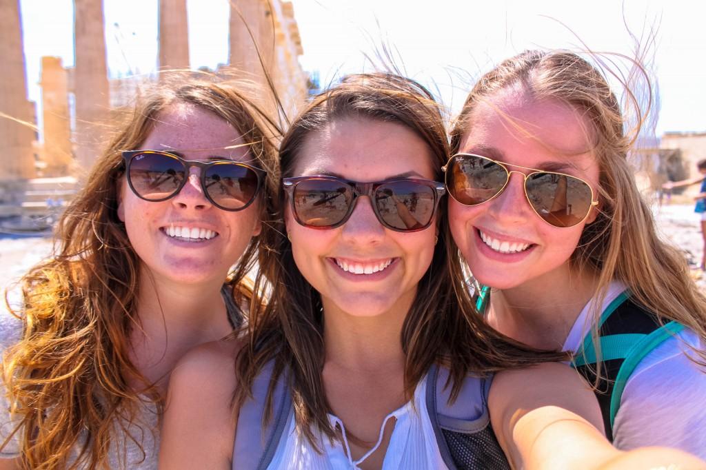 New friends exploring Greece